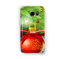 Holly Leaves Rectangle Placeholder Samsung Galaxy Case/Skin