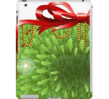 Holly Leaves Rectangle Placeholder iPad Case/Skin