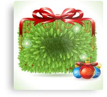 Holly Leaves Rectangle Placeholder Metal Print