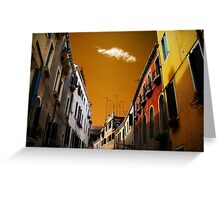 Ciel'oro di Venezia  Greeting Card