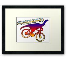 Cycle humor Framed Print