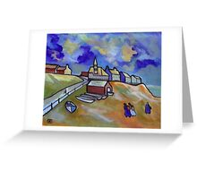 The lifeboat station from my original acrylic painting digitally enhanced) Greeting Card