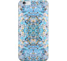 "Psychedelic Symmetrical Abstraction ""Fantazy of Gaia"" in rose, purple, cyan, blue, white and yellow for iPhone, Samsung, pillows, tote bags and mugs iPhone Case/Skin"