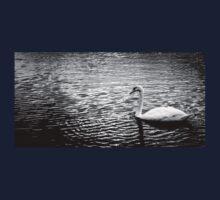 Black and white Swan Kids Tee