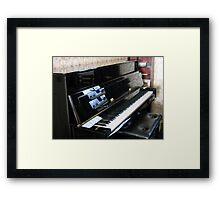 Piano Reflections Framed Print
