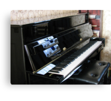 Piano Reflections Canvas Print