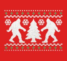 Ugly Holiday Bigfoot Christmas Sweater by robotface