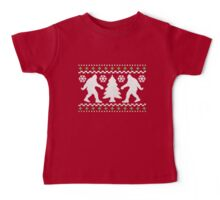 Ugly Holiday Bigfoot Christmas Sweater Baby Tee