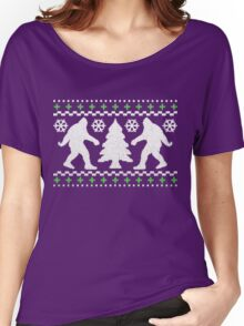 Ugly Holiday Bigfoot Christmas Sweater Women's Relaxed Fit T-Shirt