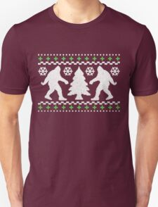 Ugly Holiday Bigfoot Christmas Sweater Unisex T-Shirt
