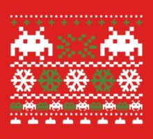 Funny Ugly Christmas Holiday Sweater Design One Piece - Long Sleeve