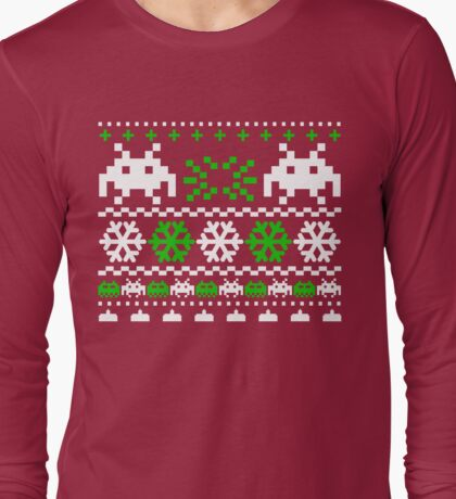 Funny Ugly Christmas Holiday Sweater Design Long Sleeve T-Shirt