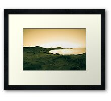 Morning sea. Camping on the beach. Framed Print