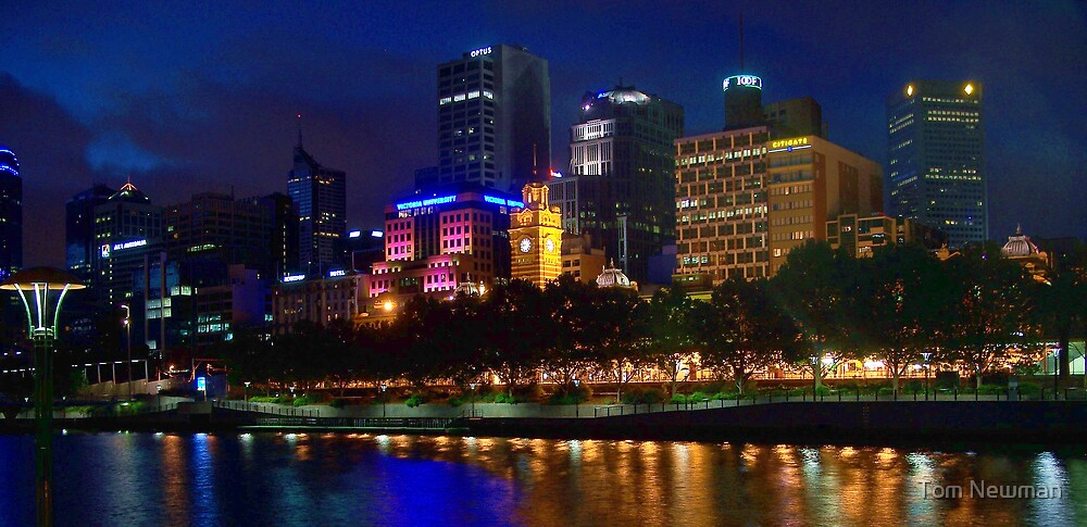 Melbourne City at Night by Tom Newman