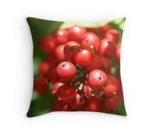 Berry Christmas Throw Pillow