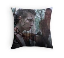 Woad 8 Throw Pillow