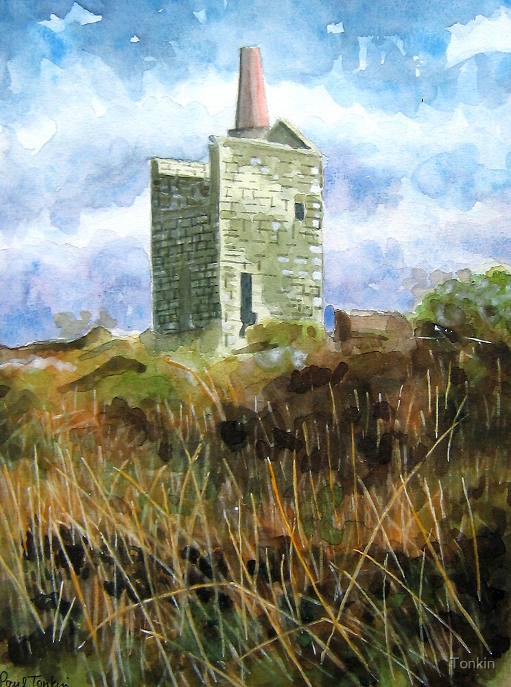 Tin Mine Engine House, Cornwall by Tonkin