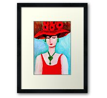 Blood Rose Lady Framed Print