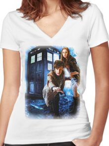 Action figures of Doctor Hoodie / T-Shirt Women's Fitted V-Neck T-Shirt