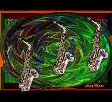 Sax Blues by Madeline M  Allen