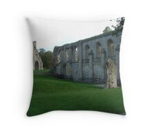 Glastonbury Abbey Throw Pillow