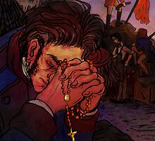 Valjean at the barricade by nisiedraws