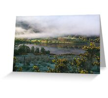 dawn mist  Greeting Card