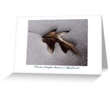 Winter Caught Autumn Off Guard Greeting Card
