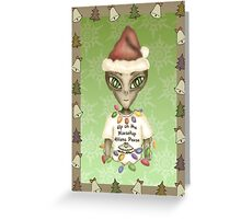 Extraterrestrial Elf Greeting Card