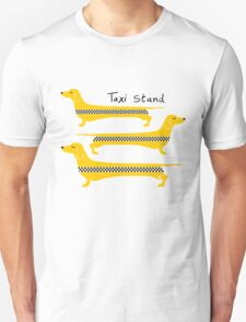 Taxi Stand Weenie Dogs T-Shirt