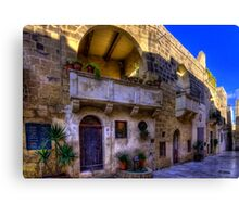 An Old Town House Canvas Print