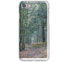 Spooky track through the woods iPhone Case/Skin