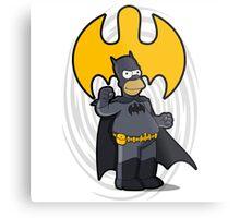 bat-homer: the Simpsons superheroes Metal Print