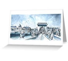 Chain Bridge In Budapest Greeting Card