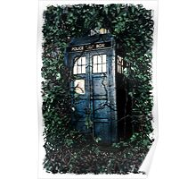 Police Box in The Garden Hoodie / T-shirt Poster