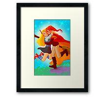 Ginny and Luna hug Framed Print