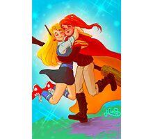 Ginny and Luna hug Photographic Print