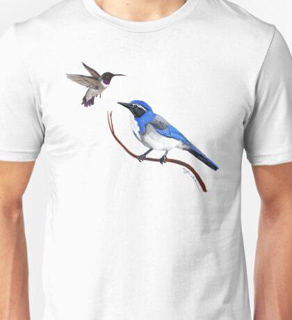 Hummingbird and Scrub Jay Unisex T-Shirt