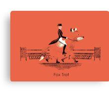 Fox Trot Canvas Print