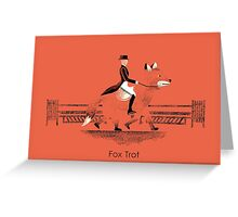Fox Trot Greeting Card