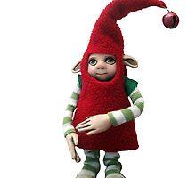 Happy Holiday Helper - Xmas Elf  by LindaAppleArt