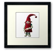 Happy Holiday Helper - Xmas Elf  Framed Print