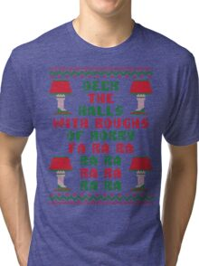 Christmas Story Deck the Halls Ugly Sweater Tri-blend T-Shirt