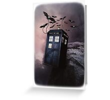 Flying Blue Box In Space Hoodie / T-shirt Greeting Card