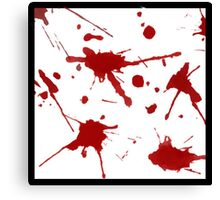 Blood stain Canvas Print