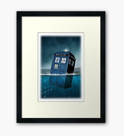 Blue Box in Water Hoodie / T-shirt Framed Print