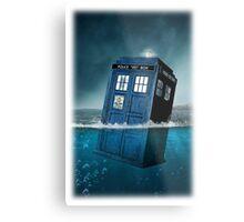 Blue Box in Water Hoodie / T-shirt Metal Print