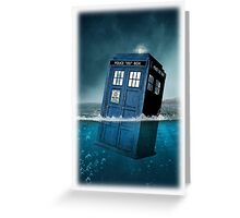 Blue Box in Water Hoodie / T-shirt Greeting Card