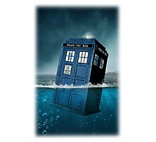 Blue Box in Water Hoodie / T-shirt Photographic Print