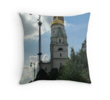 The Church of St. Ioann Lestvichnik and the Ivan the Great Bell Tower Throw Pillow